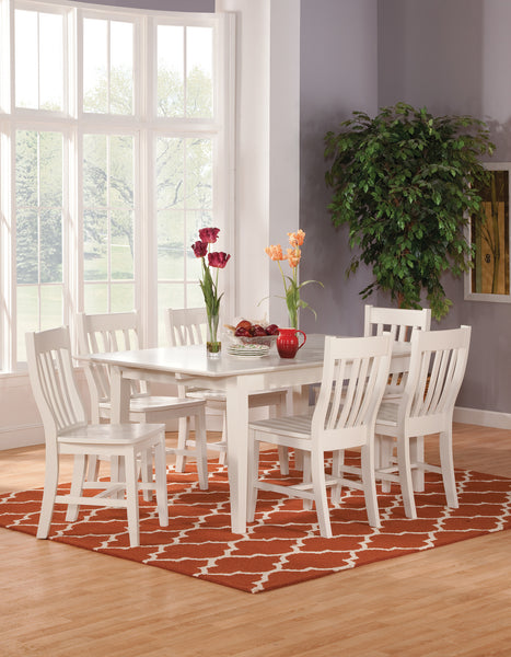 Shaker Butterfly Leaf Extension Hardwood Dining Table - 72""