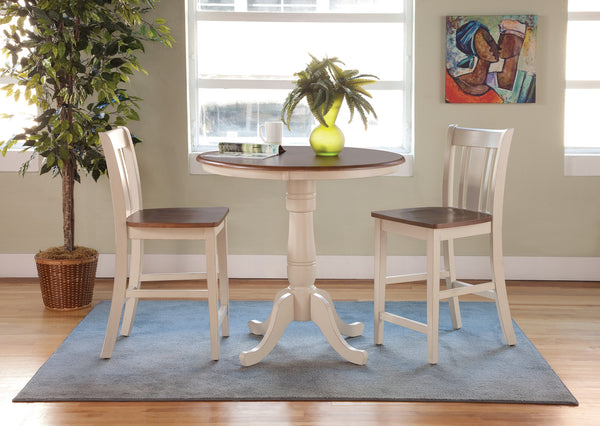 "Solid Hardwood Gathering Table 36"" Round - 36"" Tall"