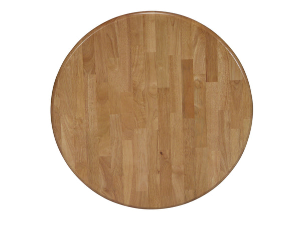 "36"" Round Solid Hardwood Dining Table Top (Finish Options) - UnfinishedFurnitureExpo"