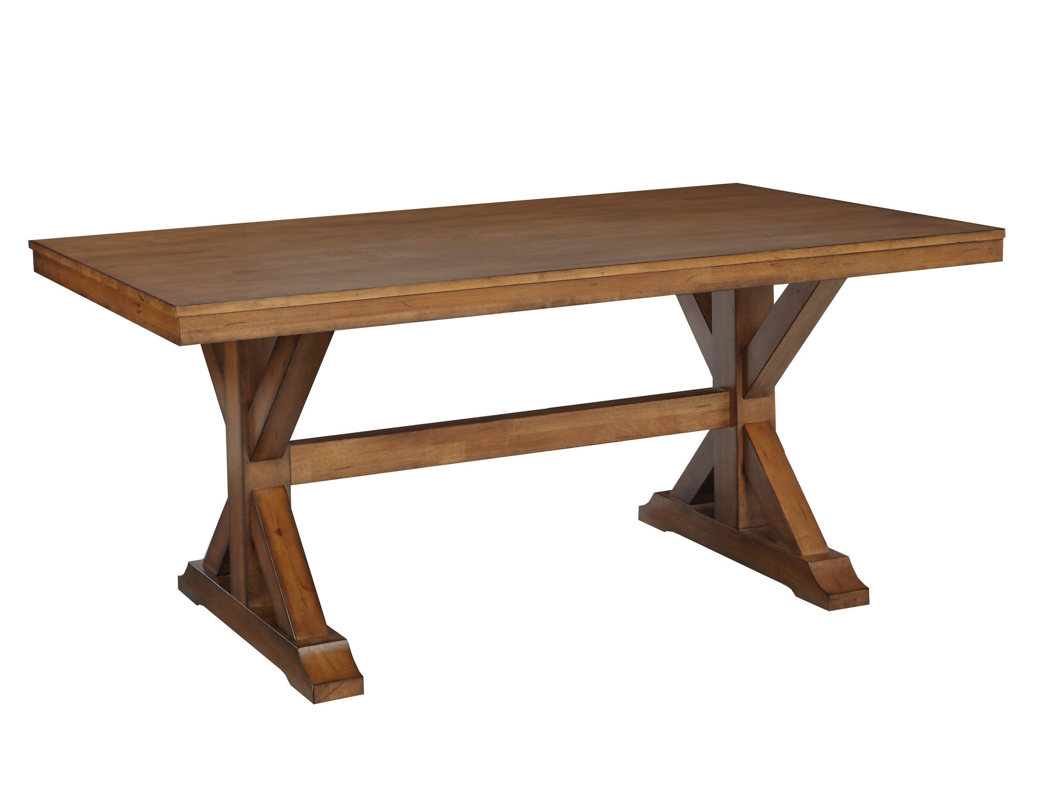 Canyon Solid Hardwood Trestle Dining Table Free Shipping T