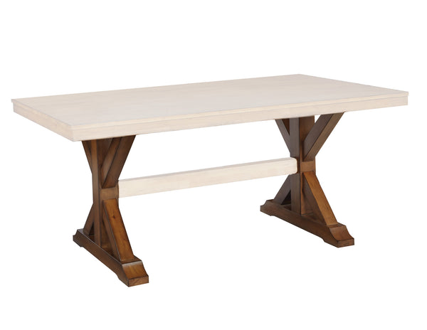 X-Style Trestle Hardwood Pedestal Set (Finish Options)