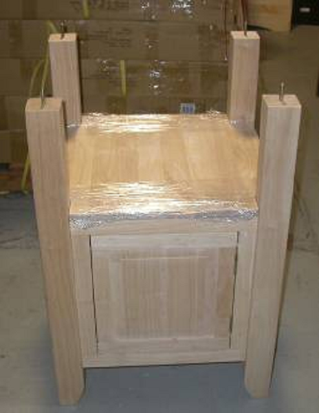 Hardwood Pedestal Base with Storage