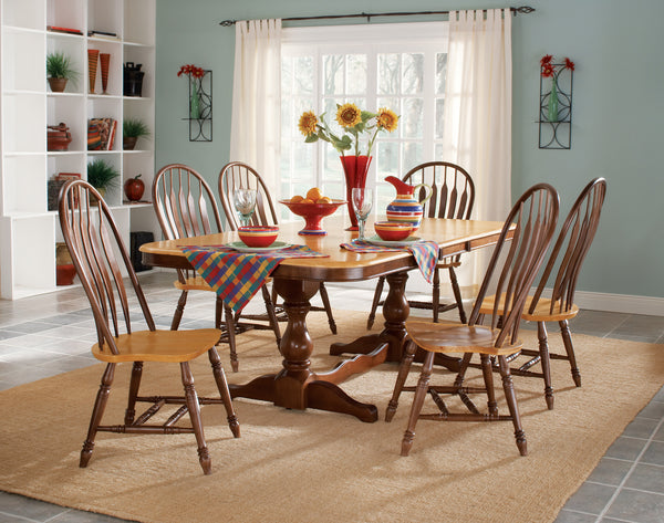 "Double Butterfly Extension Hardwood Table - 96"" - UnfinishedFurnitureExpo"
