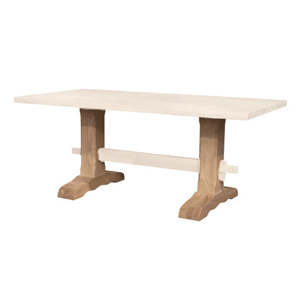 Trestle Hardwood Pedestal Set (No Stretcher)