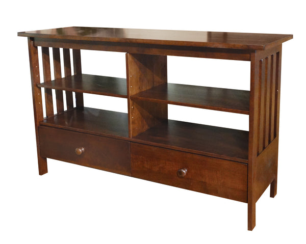 "Mission Hardwood TV Stand/Entertainment Center (Finished Options) - 48"" - UnfinishedFurnitureExpo"
