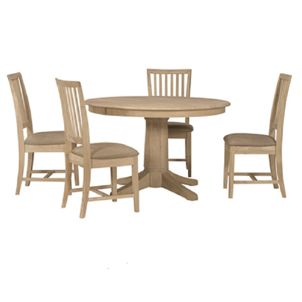 48 Round Solid Top Dining Table UnfinishedFurnitureExpo