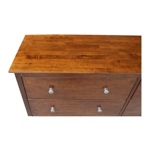 "Brooklyn Hardwood 6-Drawer Dresser - 56"" (Finish Option) - UnfinishedFurnitureExpo"