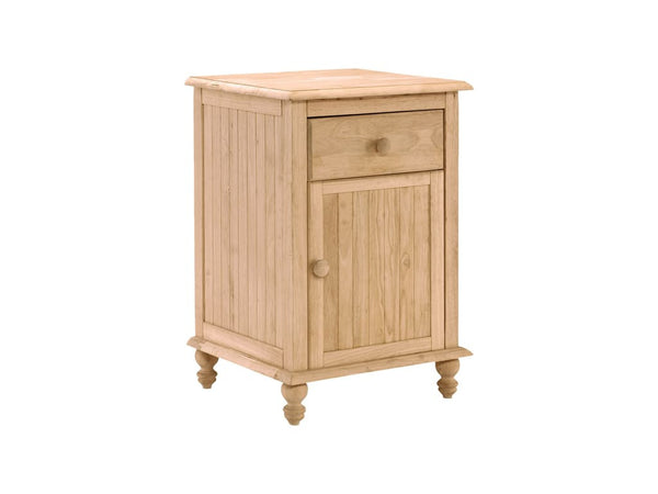 Cottage Hardwood Nightstand - UnfinishedFurnitureExpo