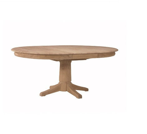 "42"" Round Hardwood Dining Table with 18"" Butterfly Leaf (Height Options)"