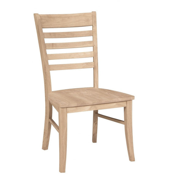 Cosmopolitan Roma Hardwood Dining Chair (2-Pack) - Finish Options - UnfinishedFurnitureExpo
