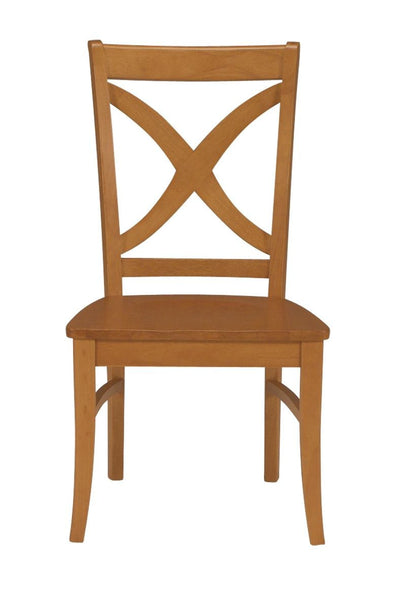 Vineyard Curved X Back Salerno Chair - 2 Pack (Finish Options)
