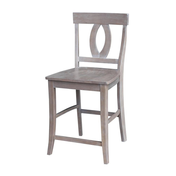 Verona Hardwood Counter Height Stool (Finish Options) - UnfinishedFurnitureExpo