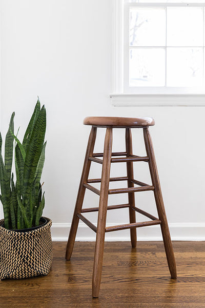 Garland Hardwood Stool (Choose Height & Finish) - UnfinishedFurnitureExpo