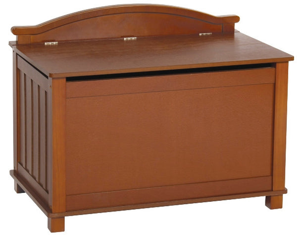 Mission Birch Toy Box in Walnut Finish - UnfinishedFurnitureExpo