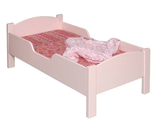 Solid Pine Traditional Toddler Bed - UnfinishedFurnitureExpo