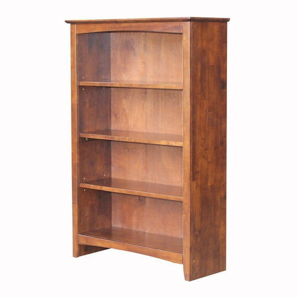 "Shaker Bookcase - 32"" Wide x 48"" Tall (Finished Options) - UnfinishedFurnitureExpo"