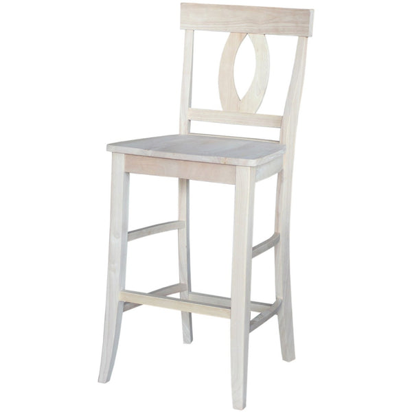 Verona Hardwood Bar Height Stool - UnfinishedFurnitureExpo
