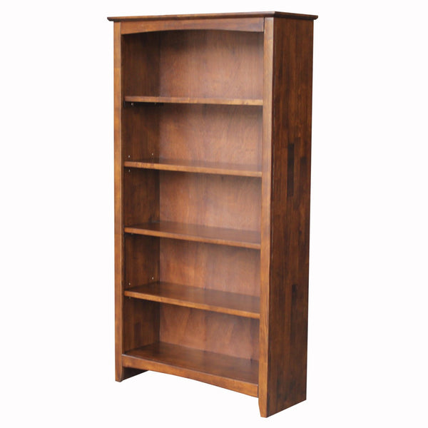 "Espresso Shaker Bookcase - 32"" Wide x 60"" Tall"