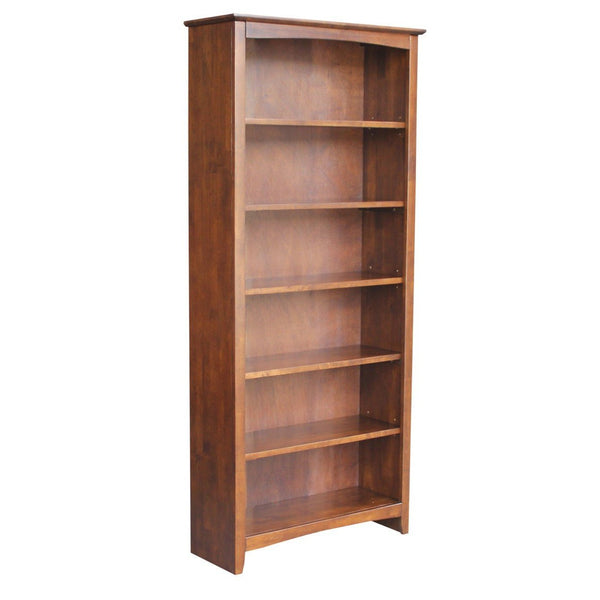 "Shaker Hardwood Bookcase - 32"" Wide x 72"" Tall (Finished Options)"