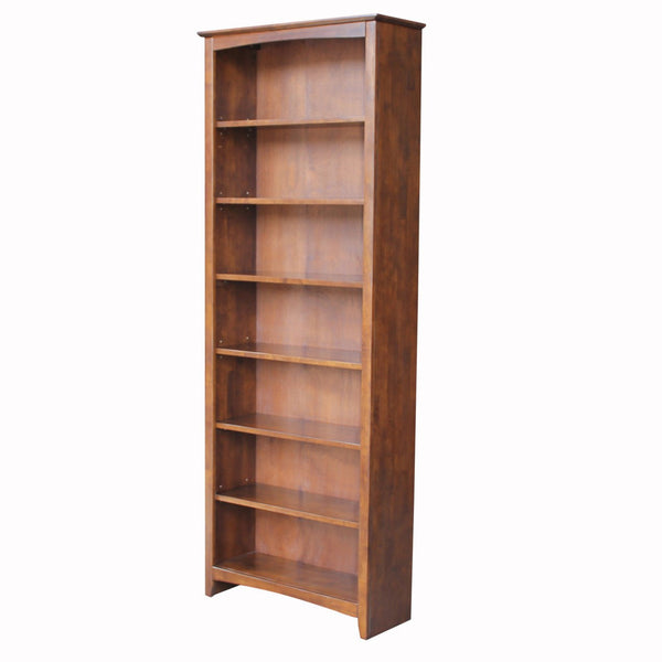 "Shaker Hardwood Bookcase - 32"" Wide x 84"" Tall (Finished Options) - UnfinishedFurnitureExpo"