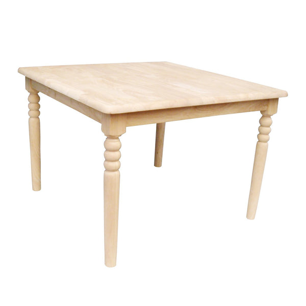 "Square Hardwood Kid's Table - 32"" (Table Only) - UnfinishedFurnitureExpo"