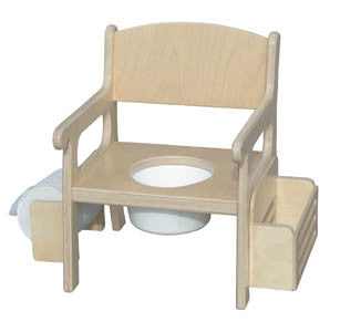 Birch Potty Chair with Accessories - UnfinishedFurnitureExpo