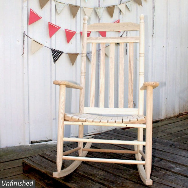 Asheville Solid Hardwood Slat Indoor Outdoor Rocker Free