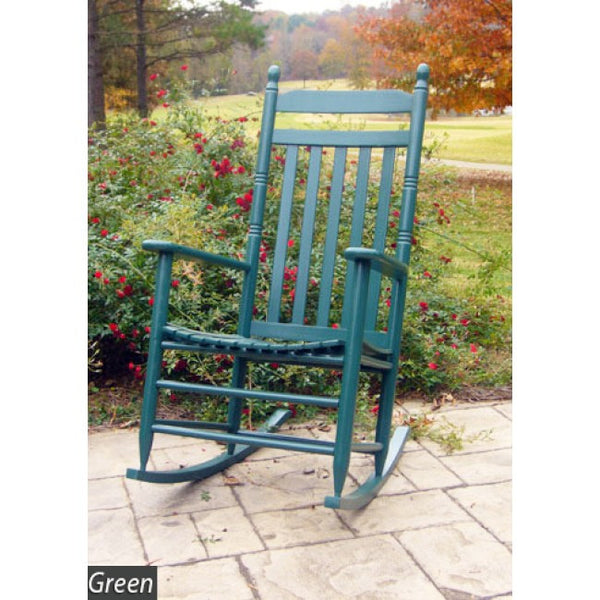 Asheville Solid Hardwood Adult Slat Seat Indoor/Outdoor Rocker (Finish Options) - UnfinishedFurnitureExpo