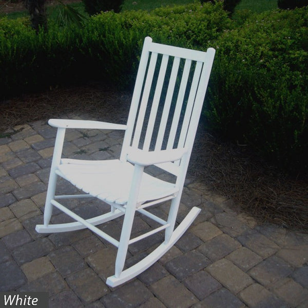 """Asheville"" Hickory Solid Hardwood Adult Rocking Chair - UnfinishedFurnitureExpo"