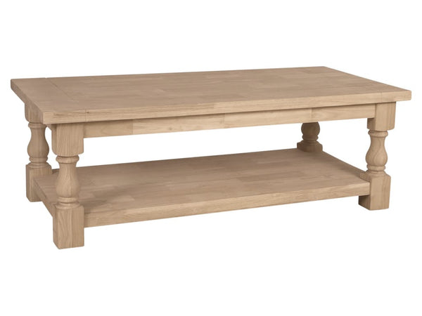 Tuscan Unfinished Hardwood Coffee Table