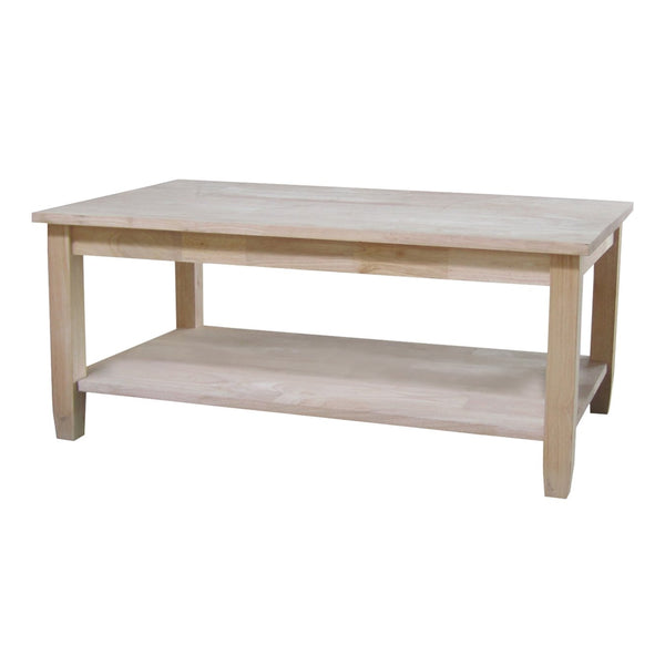 "Solano Hardwood Coffee Table - 42"" - UnfinishedFurnitureExpo"