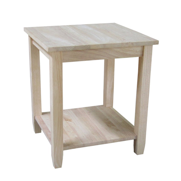 "Solano Hardwood End Table - 22"" - UnfinishedFurnitureExpo"