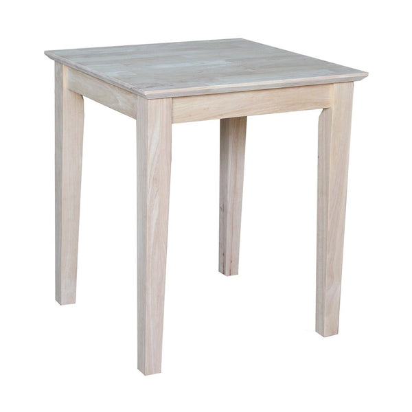 Shaker Hardwood End Table - UnfinishedFurnitureExpo