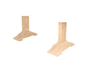 Hardwood Trestle Pedestal Pair - UnfinishedFurnitureExpo