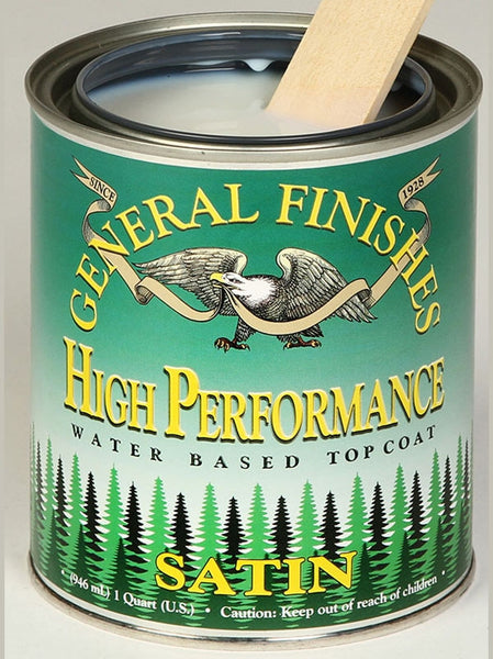High Performance Polyurethane Water Based Topcoat - Satin Quart