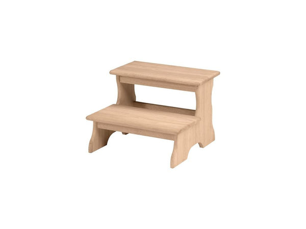 "2 Step Hardwood Stool - 14"" - UnfinishedFurnitureExpo"