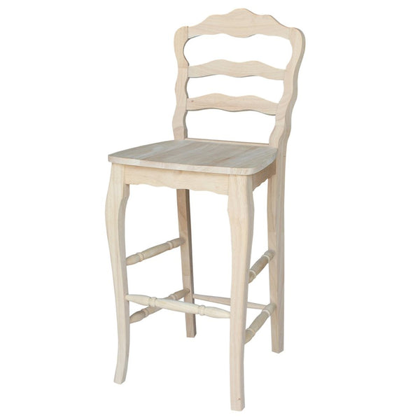 """Versailles"" Hardwood Bar Stool"