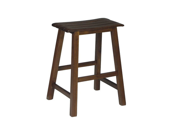 "24"" Hardwood Slat Seat Stool (Finish Options) - UnfinishedFurnitureExpo"