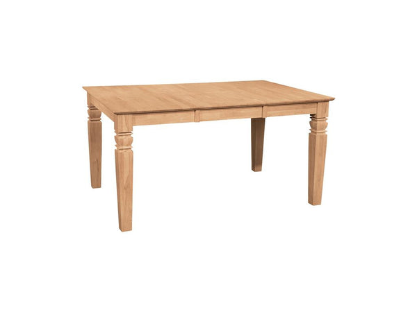 "Java Butterfly Hardwood Table - 58"" (Choose Height) - UnfinishedFurnitureExpo"