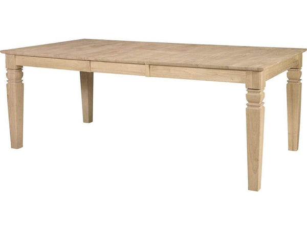 "Java Hardwood Butterfly Leaf Table - 78"" (Choose Height)"
