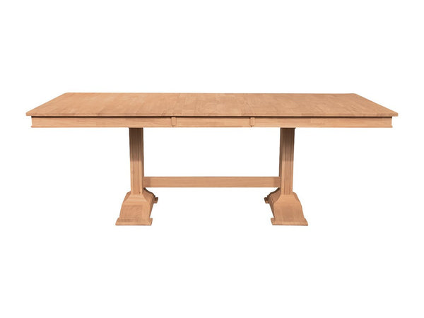 "Trestle Table with Self Storing Leaf - 66"" or 84"""