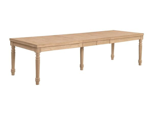 Extra Large Hardwood Extension Table - 10' (Choose Style) - UnfinishedFurnitureExpo