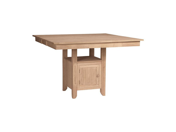 "Gathering Table with Square Storage Base - 54"" - UnfinishedFurnitureExpo"