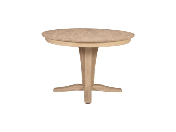 "Round Solid Top Hardwood Table - 45"" - UnfinishedFurnitureExpo"
