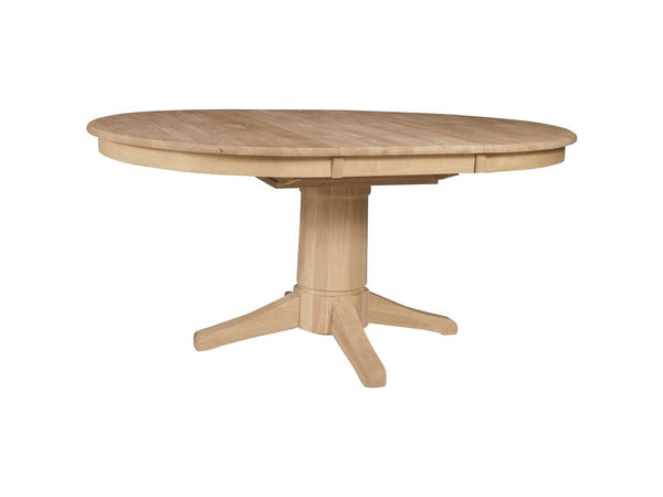 "42"" Round Hardwood Dining Table With 18"" Butterfly Leaf ..."