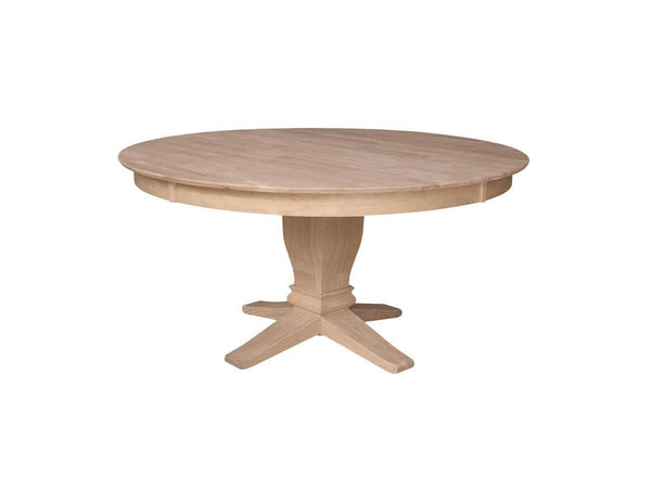 "Round Hardwood Table Top - 60"" - UnfinishedFurnitureExpo"