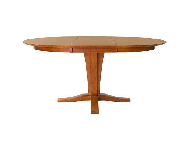 "Cosmopolitan Milano Extension Pedestal Table - 66"" (Finish Options) - UnfinishedFurnitureExpo"