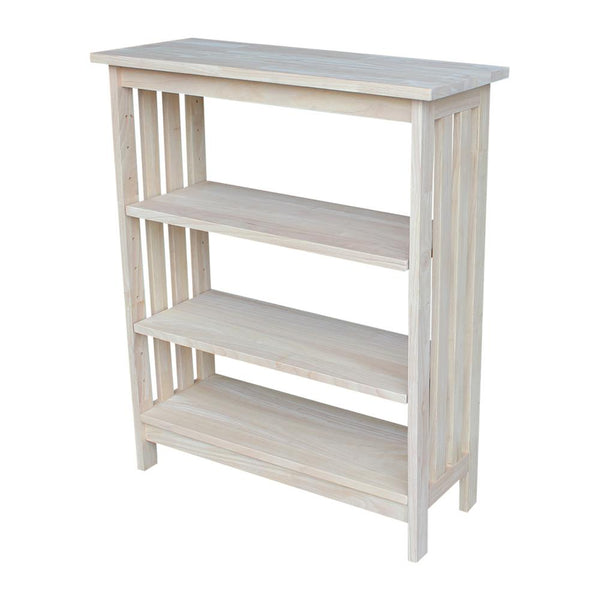 "Mission Hardwood Bookcase - 30"" x 36"" - UnfinishedFurnitureExpo"
