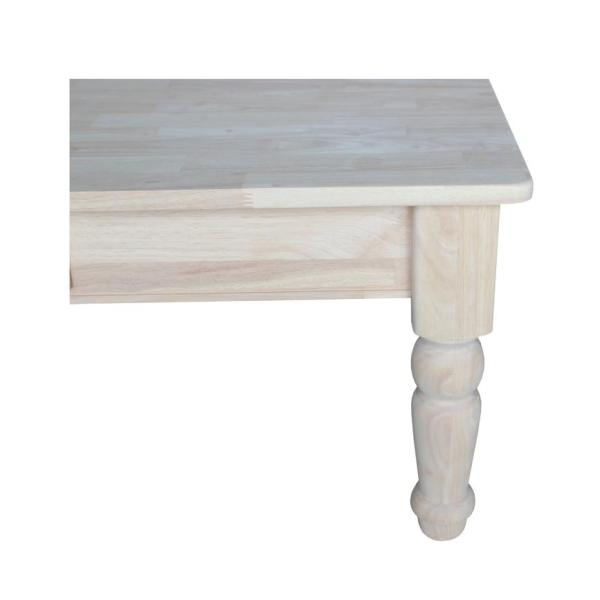 Traditional Hardwood Coffee Table - 46""