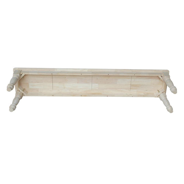 "Farmhouse Hardwood Bench - 72"" - UnfinishedFurnitureExpo"